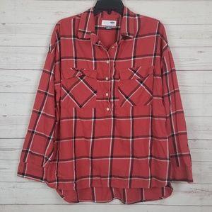 Old Navy large flannel boyfriend Popover shirt